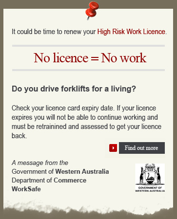 No Licence = No work. Government Message